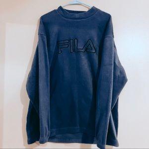 Vintage Fila Fleece Sweatshirt / Crewneck L